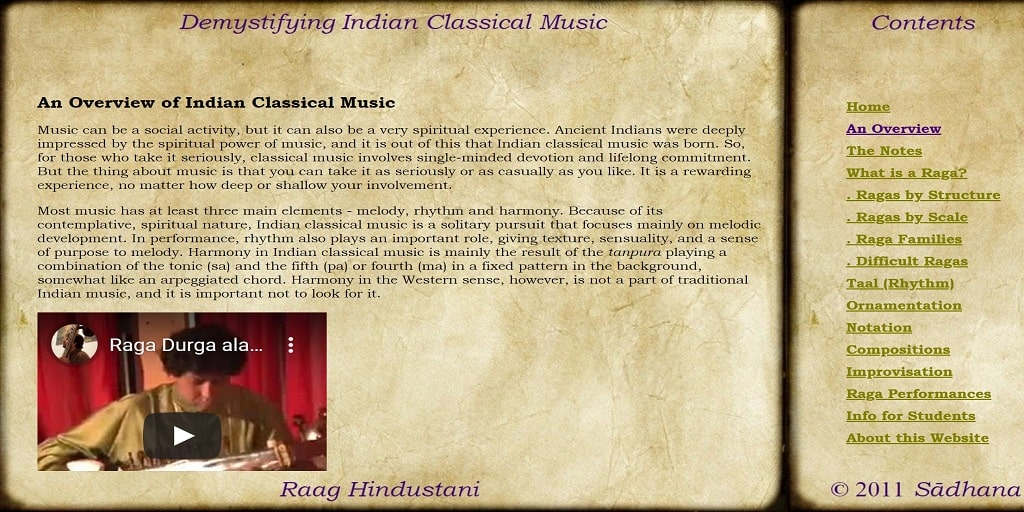 An Overview of Indian Classical Music - Raag Hindustani